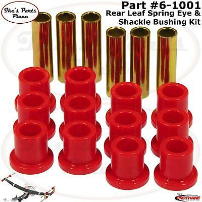 Prothane 6-1001 Rear Leaf Spring Eye & Shackle Bushing Kit 57-72 Ford F-100 2wd