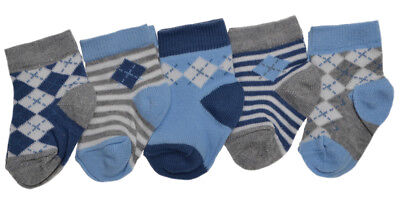 5 pairs of Baby Boys socks - Choice of Sizes available