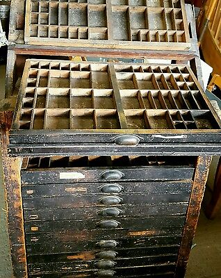 Printers Block Type Cabinet With Trays