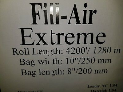 """Sealed Air Fill Air Extreme 200-8 8""""x 10"""" packing bags.4200'/ roll"""