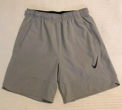 7e4b67e2989f NIKE HYPERSPEED DRI-FIT Gray Woven Knit Training Shorts Sz Medium ...