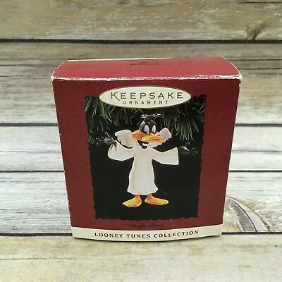 1994 Hallmark Daffy Duck Angel Christmas Ornament Looney Tunes