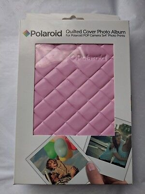 Polaroid 64 Pocket Photo Album Sleek Quilted Cover 3x4 Photo Pink POP gm1456
