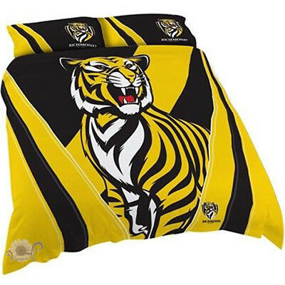 Richmond Quilt | Doona Cover Set | Tigers | AFL | Football | Double
