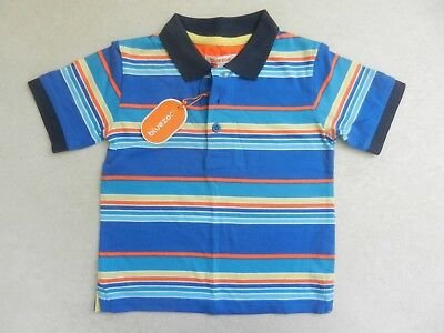 BNWT Bluezoo Boys Collared Polo Blue Stripe Smart T-Shirt 18-24 months 1.5-2 Yrs
