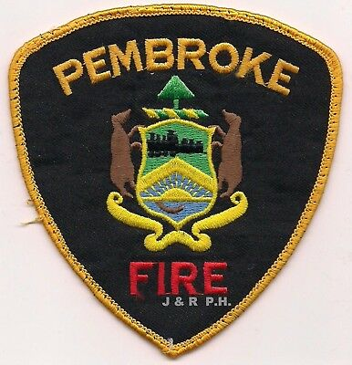 "*USED*  Pembroke Fire Dept., Ontario, Canada (4.25"" x 4.5"" size)  fire patch"