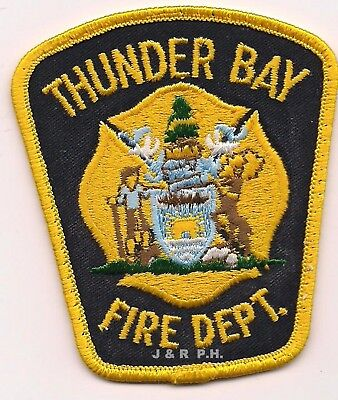 "*USED*  Thuner Bay Fire Dept., Canada (3"" x 3.5"" size)  fire patch"