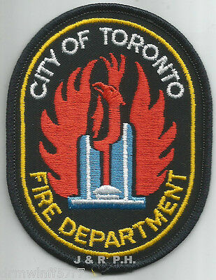 """USED""  Toronto, Ontario, Canada  old style (3.25"" x 4"" size)  fire patch"