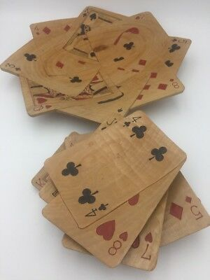 Vintage Serving Set Playing Card Bridge Poker Party 6 Pc Mid Century Appetizers