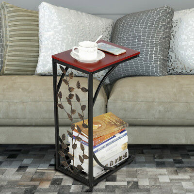 C Small Sofa Couch Chair Side End Table Snack Accent Table Storage Nightstands