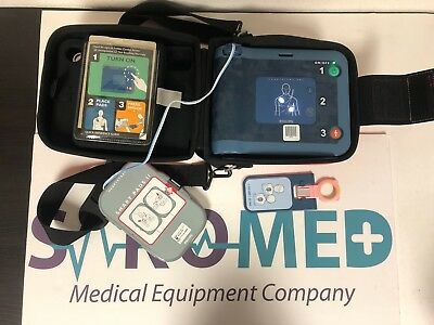 Philips FRx AED Patient Ready NEW Battery and NEW Pads with carry case