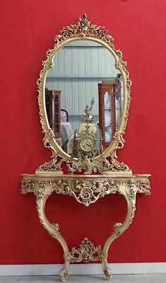 Antique  Vintage French Rococo  Bed Room Dining  Dressing Console Table Mirror