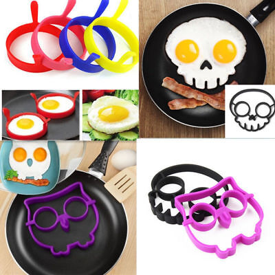 4Style Breakfast Fried Egg Mold Silicone Pancake Ring Shape Funny Cooking Brand