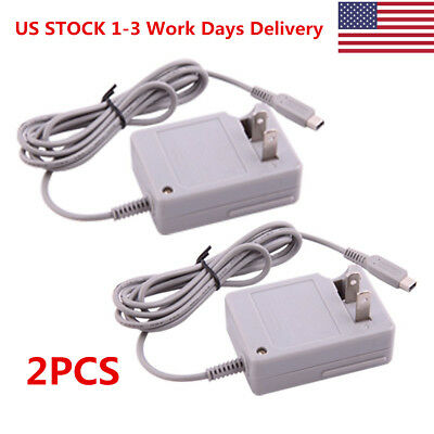 2PCS AC Home Wall Charger Power Adapter Cord Cable For Nintendo DSi NDSi 3DS XL