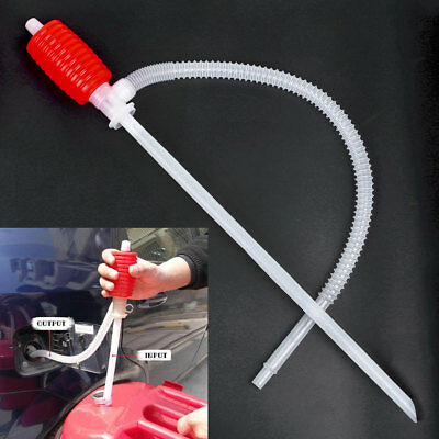 Manual Hand Siphon Pumps Oil Gasoline Petrol Liquid Refuel Hose Sucker