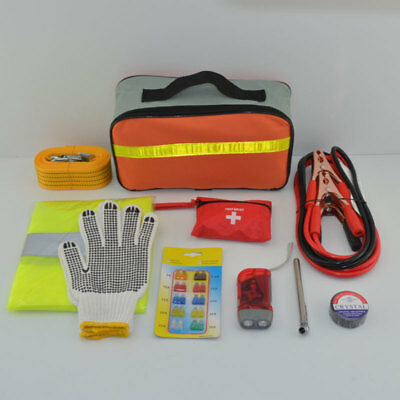 Car Emergency Travel Treatment Rescue First Aid Tool Bag Pack Kit Set For Safety