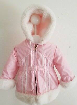"Vintage Toddler Girls Pink ""Sears Best"" Warm Winter Coat Ski Jacket Coat Size 2"