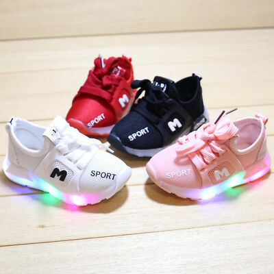 2018 Baby Casual Shoes Lights Toddler Boy Girl Sneakers Kids Fashion Shoes Size