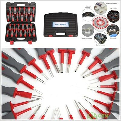 25 x Car Motorcycle Electrical Terminal Wiring Crimp Connector Pin Remover Tools