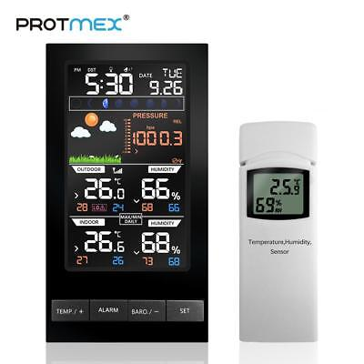 PROTMEX Weather Station with wireless and colorful LCD Display. Free Shipping