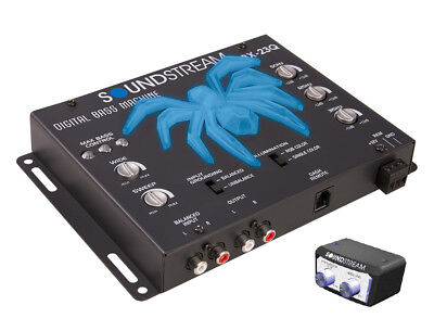 New Soundstream Bx-23Q 3 Band Bass Equalizer Booster Control Epicenter Led Light