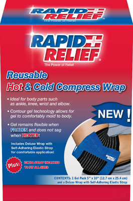 Deluxe Hot & Cold Gel Relief Compress Knee Back Ankle Elbow Pain Wrap & Extender