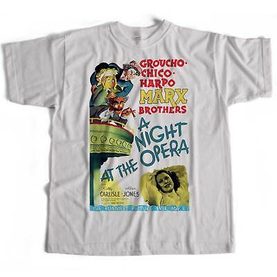 The Marx Brothers T Shirt - A Night At The Opera Poster Cult Film Queen