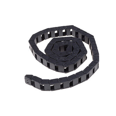Black Plastic Drag Chain Cable Carrier 10 x 15mm for CNC Router Mill BB