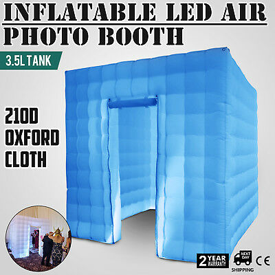 2.5M Inflatable LED Air Pump Photo Booth Tent Proms Oxford Fabric Spacious