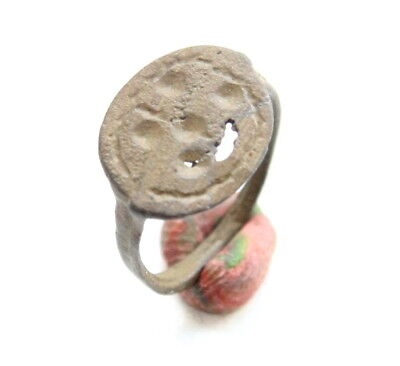 Ancient Post Medieval Ornament Bronze Ring (MAR03)