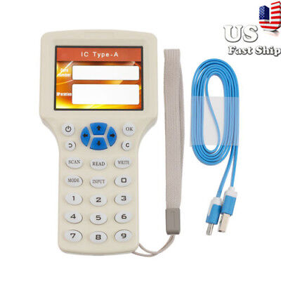 USA 10 Frequency Smart IC NFC ID Card RFID Copier Reader Writer Duplicator New