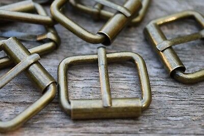 Metal Roller Buckles TO FIT 25mm Strap ANTIQUE BRASS Colour packs of 2, 4, 6, 10