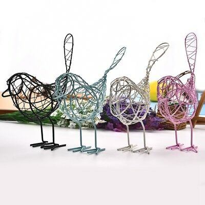 Wrought Iron Bird Ornaments Metal Crafts For Home Office Garden DIY Decoration