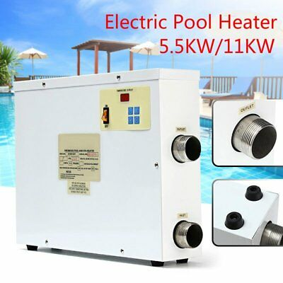 5.5/11KW 220V Swimming Pool & SPA Bath Electric Water Heater Thermostat Hot Tub