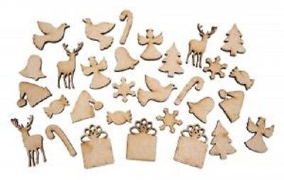 Creative Expressions Laser Cut MDF Christmas Accessory Kit 30 Pieces REINDEER