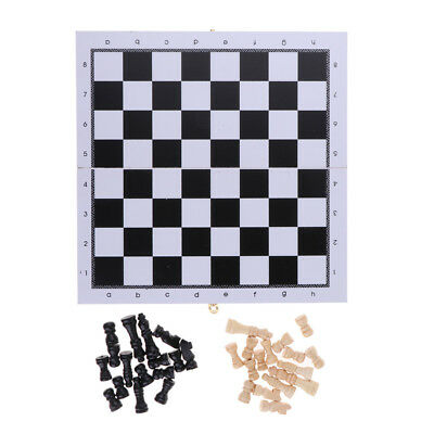 Tournament Chess Set Portable Wooden Chessboard & 32 Wood Chess Pieces