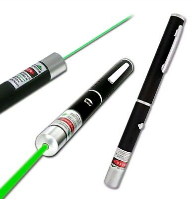 1mW POWERFUL LASER x2 LAZER POINTER PEN HIGH POWER PROFESSIONAL 532nm
