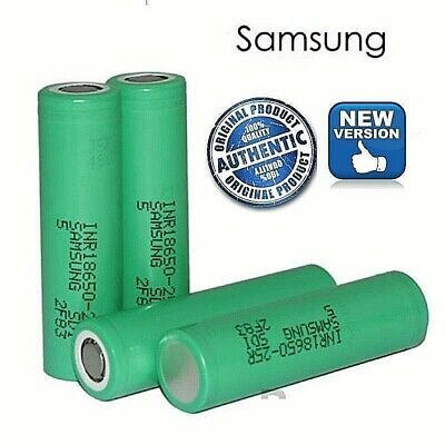 2 x Samsung 25R 18650 High Drain 3.7 Authentic Vape Battery 1 DAY DISPATCH