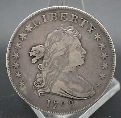 """""""rare"""" 1798 Draped Bust Dollar Strong Vf Condition"""