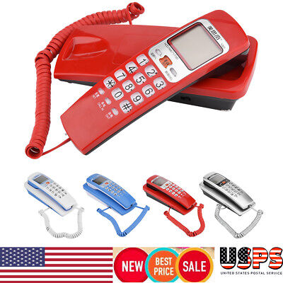 WALL MOUNT CORDED TELEPHONE Value Line Landline Home Room Office Phone Caller ID