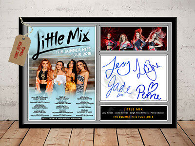 LITTLE MIX SIGNED Photo Print SUMMER HITS TOUR 2018 Free Postage