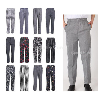 Chef Pants Unisex Baggy Chef Pants for Executive Chefs Men Women Trousers
