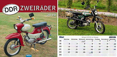 Calendar Picture Calendar Wall Calendar Calendar GDR Bicycles 2019 Moped