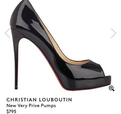huge selection of 55cca 30a51 CHRISTIAN LOUBOUTIN RED Bottom Peep Toe Pumps Size 37 Excellent Condition