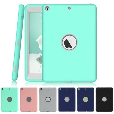 "New For iPad 6th Generation 9.7"" 2018 Shockproof Heavy Duty Rubber Case Cover"