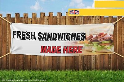 Fresh Sandwiches Made Here Heavy Duty PVC Banner Sign 3323