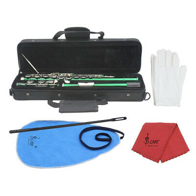 16 Holes C Flute + E Key for Student Beginner School Band with Case Care Kit
