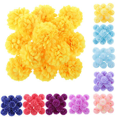 Pack of 30pcs Artificial Daisy Flower Spherical Heads Plant Bouquets Craft