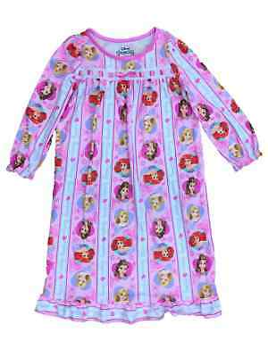 6a230d58a TODDLER GIRLS PINK Flannel Disney Princess Nightgown Belle Ariel ...