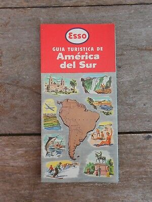 vintage Uruguay ESSO route map SOUTH AMERICA VERY FINE CONDITIONS